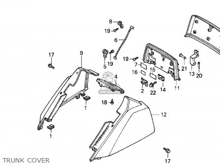 Honda Cn250 Helix 1994 r Usa Trunk Cover