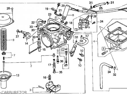 Honda Cn250 Helix 1994 Usa Carburetor