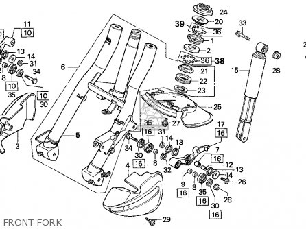 Honda Cn250 Helix 1994 Usa Front Fork