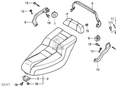 Honda Cn250 Helix 1994 Usa Seat