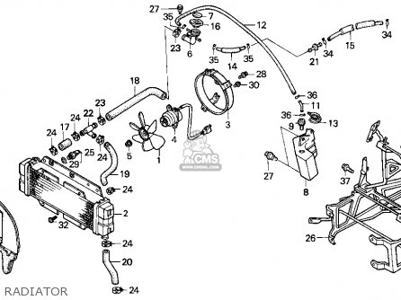 Honda Cn250 Helix 1995 s Usa Radiator