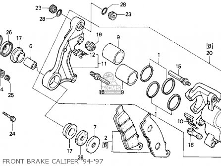 Honda Cn250 Helix 1996 t Usa Front Brake Caliper 94-97