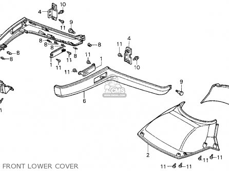Honda Cn250 Helix 1996 t Usa Front Lower Cover