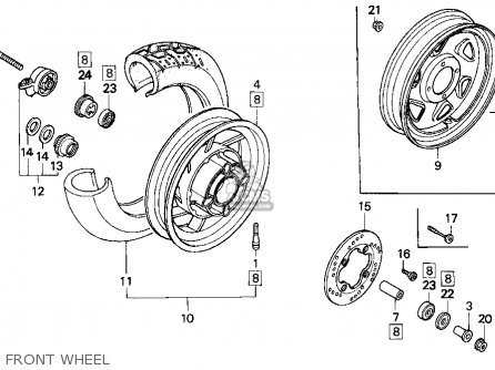 Honda Cn250 Helix 1996 t Usa Front Wheel