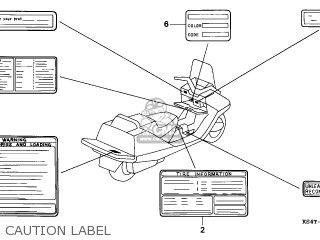 Honda Cn250 Helix 1997 v England Mph Caution Label
