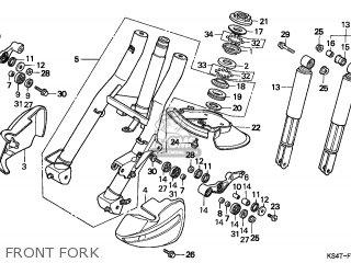 Honda Cn250 Helix 1997 v England Mph Front Fork