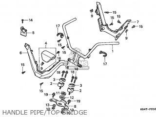 Honda Cn250 Helix 1997 v England Mph Handle Pipe top Bridge