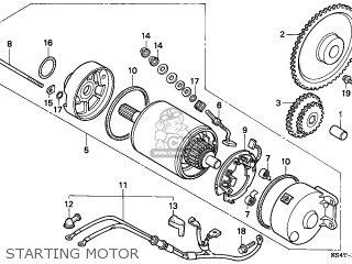 Honda Cn250 Helix 1997 v England Mph Starting Motor