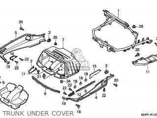 Honda Cn250 Helix 1997 v England Mph Trunk Under Cover