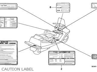 Honda Cn250 Helix 1997 v Italy Kph Caution Label