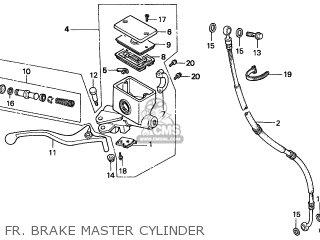 Honda Cn250 Helix 1997 v Italy Kph Fr  Brake Master Cylinder