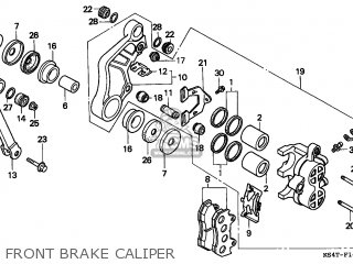 Honda Cn250 Helix 1997 v Italy Kph Front Brake Caliper