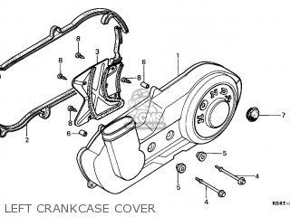 Honda Cn250 Helix 1997 v Italy Kph Left Crankcase Cover