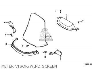 Honda Cn250 Helix 1997 v Italy Kph Meter Visor wind Screen
