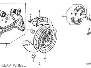 Honda Cn250 Helix 1997 v Italy Kph Rear Wheel