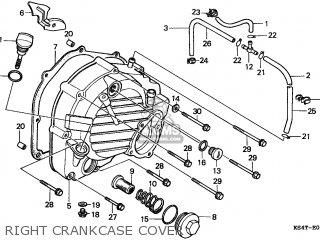 Honda Cn250 Helix 1997 v Italy Kph Right Crankcase Cover