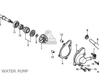 Honda Cn250 Helix 1997 v Italy Kph Water Pump