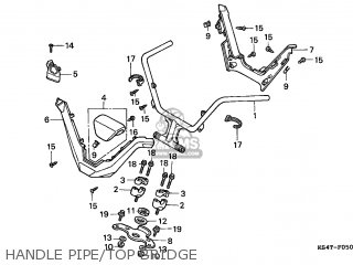 Honda Cn250 Helix 1997 v Switzerland Kph Handle Pipe top Bridge