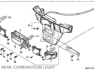 Honda Cn250 Helix 1997 v Switzerland Kph Rear Combination Light