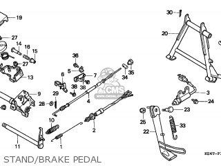 Honda Cn250 Helix 1997 v Switzerland Kph Stand brake Pedal