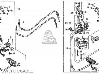 Honda Cn250 Helix 1997 v Switzerland Kph Switch cable