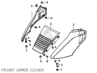 Honda Cn250 Helix 1998 w Usa Front Upper Cover