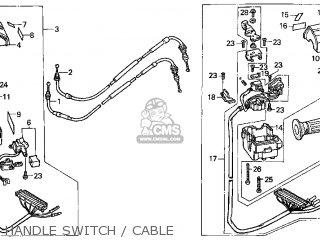 Honda Cn250 Helix 1998 w Usa Handle Switch   Cable
