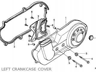 Honda Cn250 Helix 1998 w Usa Left Crankcase Cover