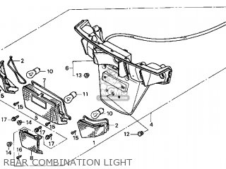 Honda Cn250 Helix 1998 w Usa Rear Combination Light