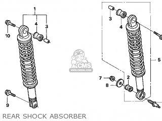 Honda Cn250 Helix 1998 w Usa Rear Shock Absorber