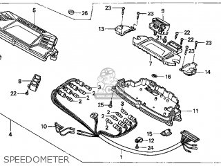 Honda Cn250 Helix 1998 w Usa Speedometer