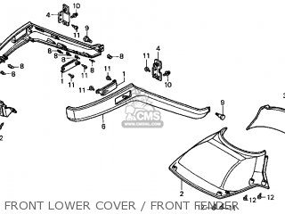 Honda Cn250 Helix 1999 x Usa Front Lower Cover   Front Fender