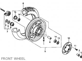 Honda Cn250 Helix 1999 x Usa Front Wheel