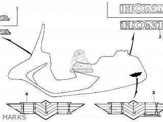 Honda Cn250 Helix 1999 x Usa Marks