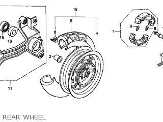 Honda Cn250 Helix 1999 x Usa Rear Wheel