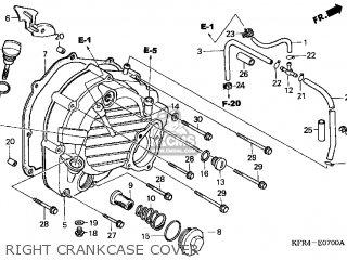 Honda Cn250 Helix 1999 x Usa Right Crankcase Cover