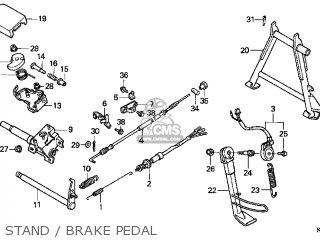 Honda Cn250 Helix 1999 x Usa Stand   Brake Pedal