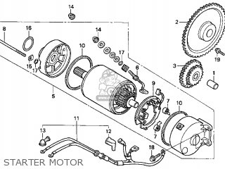 Honda Cn250 Helix 1999 x Usa Starter Motor