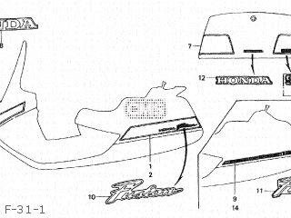 Honda Cn250se Fusion 1994 r Japan Mf02-150 F-31-1
