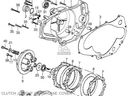 Honda Cr125m Elsinore M1 Usa Clutch Right Crankcase Cover moreover NosResults as well E  02 further Honda Elsinore Motorcycles further NosResults. on honda cr125m parts