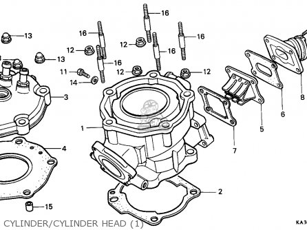 Honda Cr125r 1985 F Canada Cmf Parts Lists And Schematics