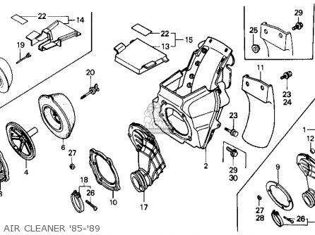 Honda Cr125r 1985 f Usa Air Cleaner 85-89