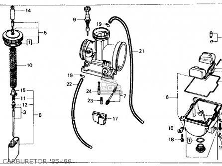 Honda Cr125r 1985 f Usa Carburetor 85-89