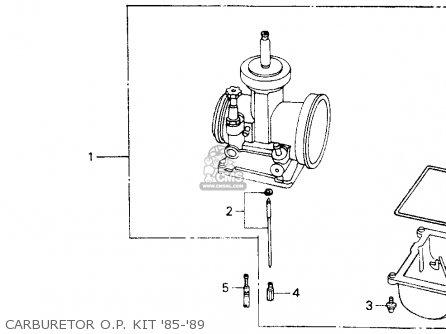 Honda Cr125r 1985 f Usa Carburetor O p  Kit 85-89