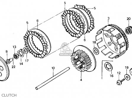 Honda Cr125r 1985 f Usa Clutch