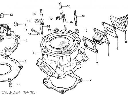 Honda Cr125r 1985 f Usa Cylinder  84 85