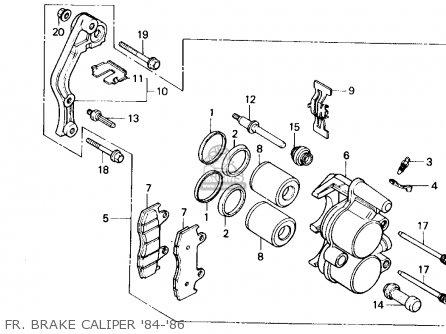 Honda Cr125r 1985 f Usa Fr  Brake Caliper 84-86