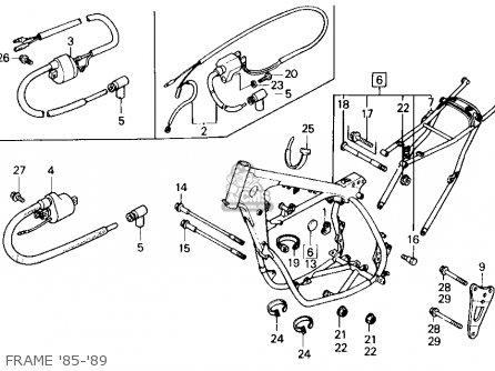 Honda Cr125r 1985 f Usa Frame 85-89