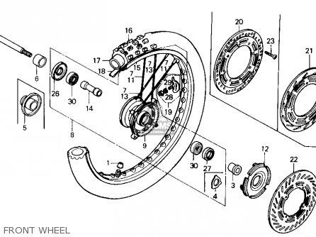 Honda Cr125r 1985 f Usa Front Wheel