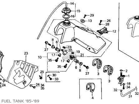 Honda Cr125r 1985 f Usa Fuel Tank 85-89